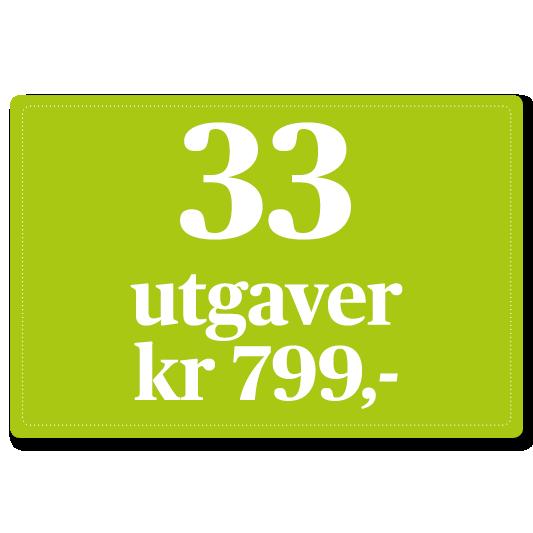 33 utgaver for kroner 799,-